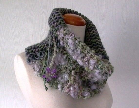 Bohemian Knitting Patterns : knitting pattern pdf . art yarn cowl pattern . bohemian cowl