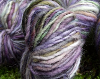 Handspun, handpainted yarn, BFL wool yarn, handmade worsted weight, multiple skeins available-Chameleon