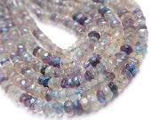 FLOURITE Gemstone Faceted Rondelles,  3.5 to 4mm Semi Precious Gemstone.  Mini Strands your choice   (ffl)