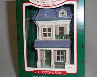 1987 Hallmark Ornament Nostalgic Houses and Shops Series House on Main St #4