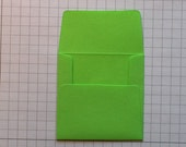 Kelly Green and Dark Blue Mini Envelopes with Crisp White Inserts