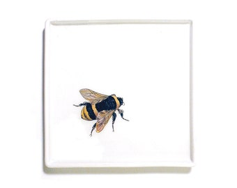 Solitary Bee decoupage catch-all tray