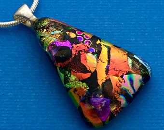 Show Stopper - Dichroic Glass Pendant Necklace