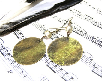 Round Green Earrings Metallic Pearl Earrings Top Selling Jewelry Most Popular Jewelry
