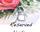 Reserved listing. Wedding bouquet photo charm. Add-on to existing order. Bridal bouquet charm. Gift for the bride. Photo charm.
