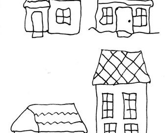 Little Houses - Thermofax Screen