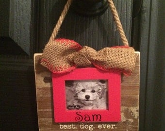 Best Dog Ever personalized Photo Ornament