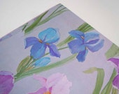 Vintage 1980 All Occasion Wrapping Paper | Purple Gift Wrap | Iris Flower Gift Wrapping Paper