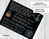 NEW Text Adventure Zork Christmas Card Holiday Card Nerdy Greetings - New for 2015