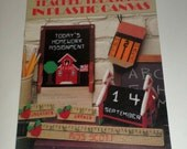 Vintage Leisure Arts Teacher Treasures in Plastic Canvas - 12 Designs by Molly Newby D'Alessio - 1993 Plastic Canvas Pattern Book - 10 Pages