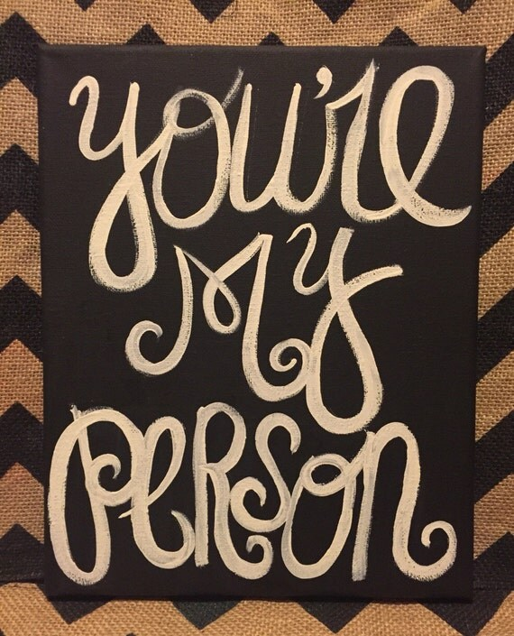 Greys Anatomy Wall Decor : Greys anatomy you re my person custom painted art canvas