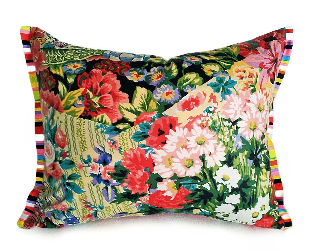 bohemian pillow cover unique pillows eclectic colorful throw. Black Bedroom Furniture Sets. Home Design Ideas