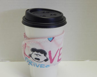 Reusable Drink Wrap Valentines Day Charlie Brown