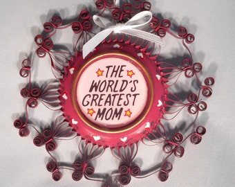 Mom Recycled Aluminum Can Ornament