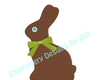 SALE 65% off Easter Chocolate Bunny Rabbit Machine Embroidery Designs 4x4 & 5x7 Instant Download Sale
