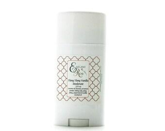 Ylang Ylang Vanilla Deodorant, Natural Deodorant, Aluminum Free Deodorant