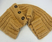 Bulky Cowl Mustard Infinity Buttons Texture Accessory Fall