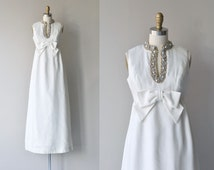 Étoile Polaire wedding dress | vintage 1960s wedding gown | beaded 60s dress