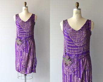 Saphyra dress | vintage 1920s dress | lame 20s flapper dress