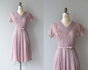Latifolia dress | vintage 1950s dress | lace 50s party dress