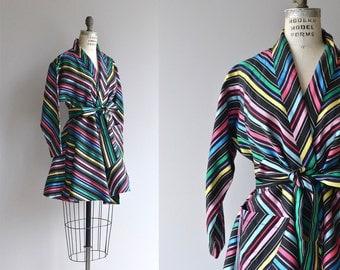 Carnivale wrap jacket   vintage 50s jacket   taffeta 1950s coat