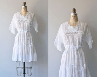 Elea afternoon dress | 1910s cotton dress | Edwardian lace tea dress