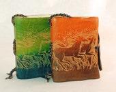 Running horses Leather Journal