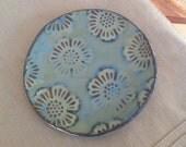 Ceramic Flower Dish, Jewelry Catch All, Stoneware Ring Dish, Jewelry Storage, Decorative Plate