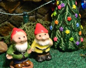 Miniature Garden Gnome - DollHouse Sized - 1 inch tall Terrarium sized -