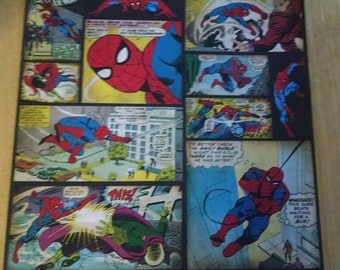 12x12 Scrapbook Paper Spiderman Comics - 4 Sheets | 12x12 | Scrapbooking | Comic Book