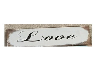 "LOVE sign Fruits of the Spirit Love Joy Peace Patience Kindness Goodness Faithfulness Gentleness Self-control 13""w x 3 1/2"" tall"