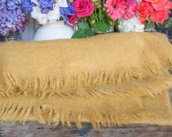 Genuine Yellow Mohair Blanket