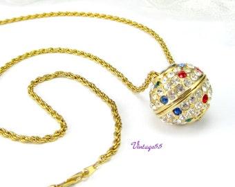 Necklace Rhinestone Pendant New Years