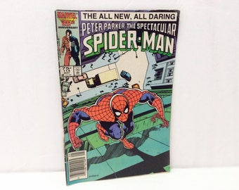 Vintage 1986 comic Book // Spider Man // Illustrated Marvel comics