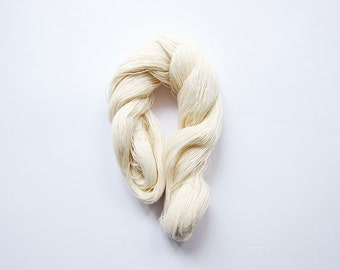 Lace Weight Cotton Thread - 2 Skeins Twist Wrapped - For Embroidery / Sewing / Crocheting