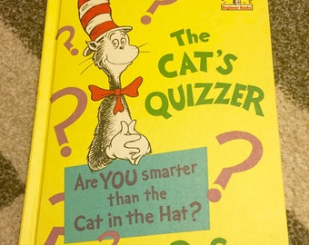 Dr. Seuss The Cats Quizzer Vintage Childrens Book 1976