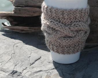 Knit cup cozy, knit coffee cozy, knit coffee mug cozy, tea cozy, cup cozy, travel mug cozy, travel cup cozy, coffee, tea, coffee, knit gift