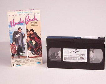 Uncle Buck VHS John Candy 1989 Universal City Studios Comedy Film Rated PG Tia Miles Maizy Chanice