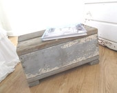 Vintage Step Stool * Shabby Cottage * French Nordic * Old Farmhouse * Grey