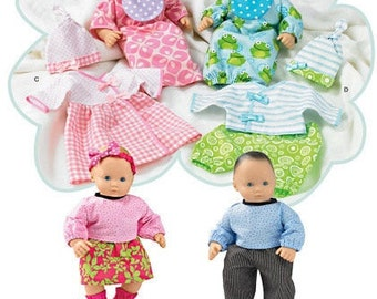 DOLL CLOTHES PATTERN / Boy and Girl Baby Dolls / Bitty Baby and Bitty Twins