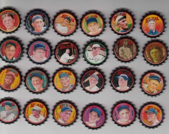 24 different Helmar old time baseball stars unused beer bottle caps THE FULL SET!!