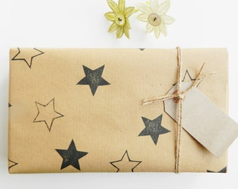 stars gift wrapping - wrapping paper - stars - gift wrap - birthday wrap - fathers day wrap - wedding day