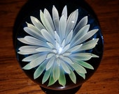 Silver Sea Anemone Glass Flower Marble w/stand 1.8""