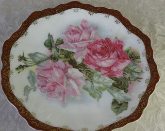 "ROSES ROSES Plate Bavaria 7"""