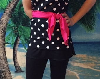Ladies or teen modest swimsuit Small