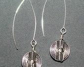Pewter V-Wire Earrings G-...