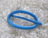 vintage barrette,bright blue slide style