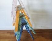 Vintage shabby chic CUSTOM COLOR ladder