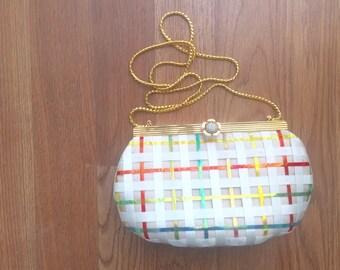 Vintage Judith Leiber RARE basketweave handbag