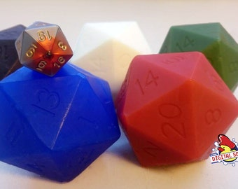 D20 Die Soap Set With Real d20 Dice Inside | MtG Colors | Tabletop Gaming Soap | Dungeons and Dragons Soap